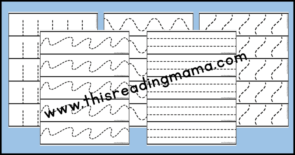 cutting practice strips - formatted for easy printing for multiple learners