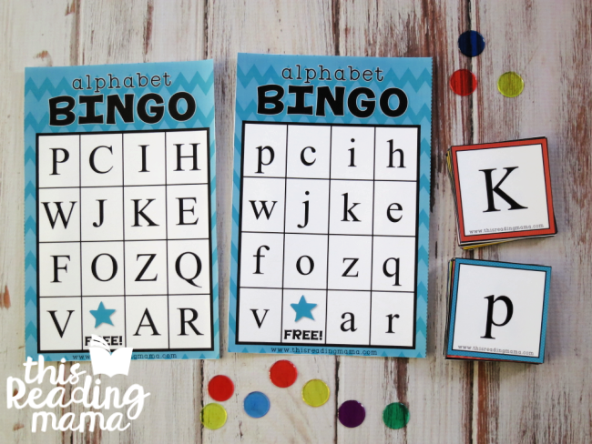 Alphabet BINGO Boards and Cards - Type Font