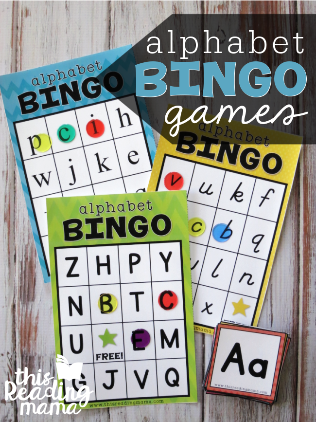 Printable Alphabet BINGO Games - This Reading Mama