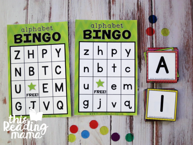 Alphabet BINGO Boards and Cards - Print Font