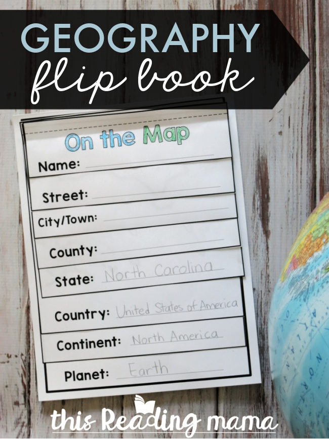 Geography Flip Book {for the 50 States} - This Reading Mama
