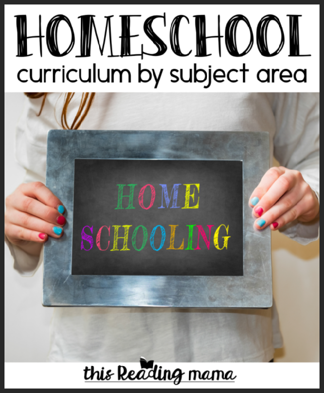 Homeschool Curriculum by Subject Area - This Reading Mama