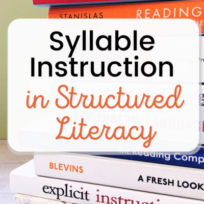 Syllable Instruction in Structured Literacy