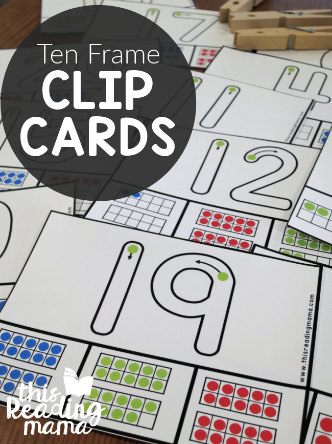 Ten Frame Clip Cards - Trace and Clip - This Reading Mama