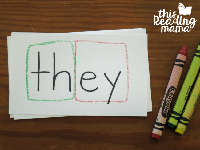 teaching high frequency words - color coding the chunks