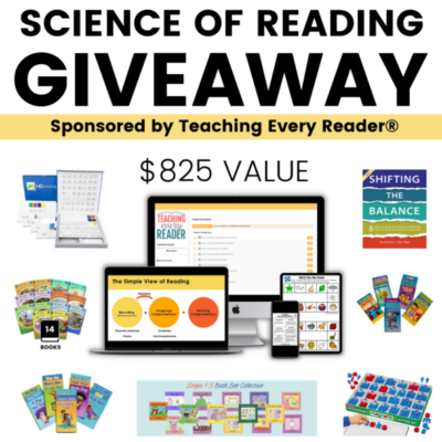 HUGE Science of Reading Giveaway