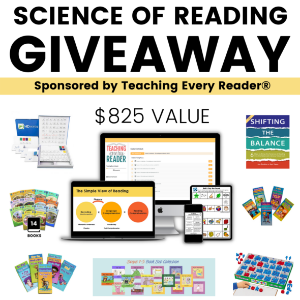 HUGE Science of Reading Giveaway - Sponsored by Teaching Every Reader