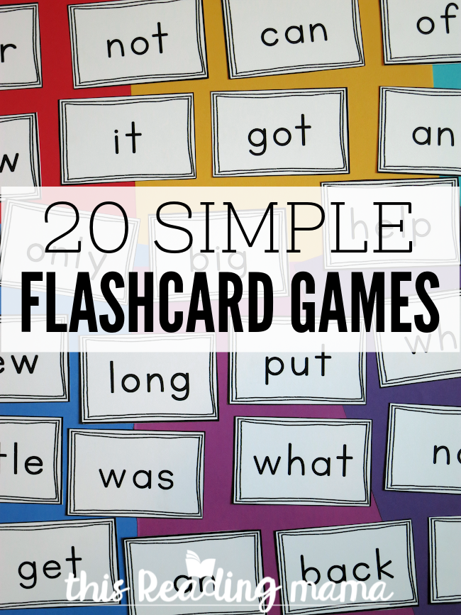20 Simple Flashcard Games - This Reading Mama