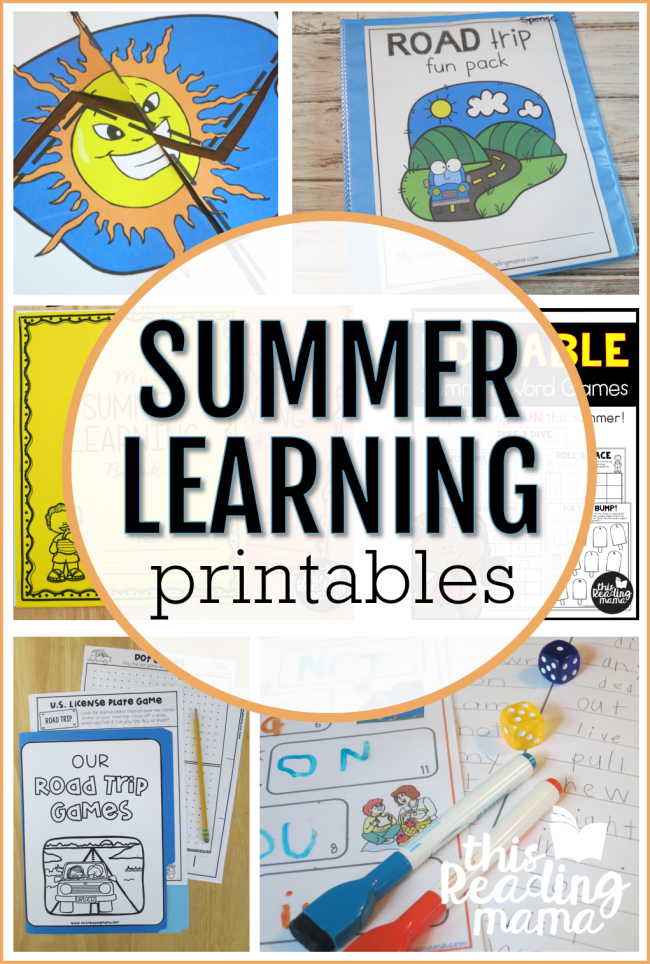 Summer Learning Printables - This Reading Mama