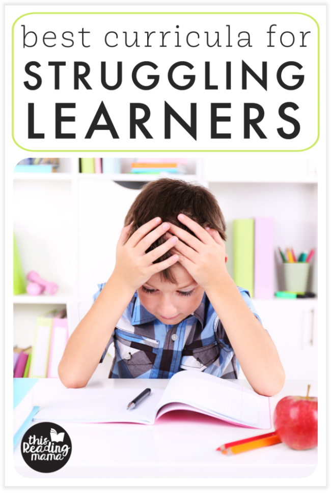 The Best Curricula for Struggling Learners - This Reading Mama