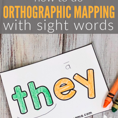 Orthographic Mapping with Sight Words {How to}