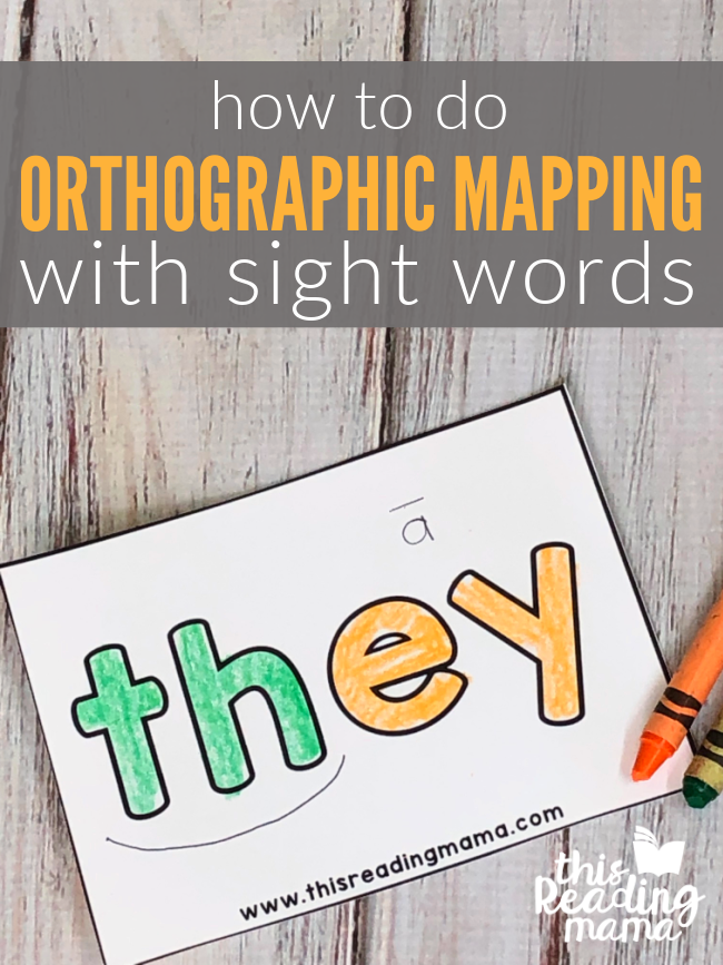 How to do Orthographic Mapping with Sight Words - This Reading Mama
