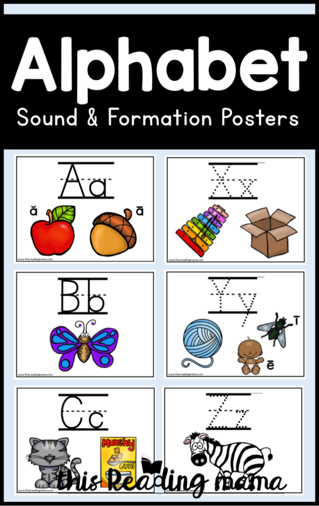 Alphabet Sound and Formation Posters - This Reading Mama