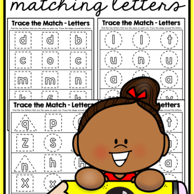 Matching Letters Tracing Pages