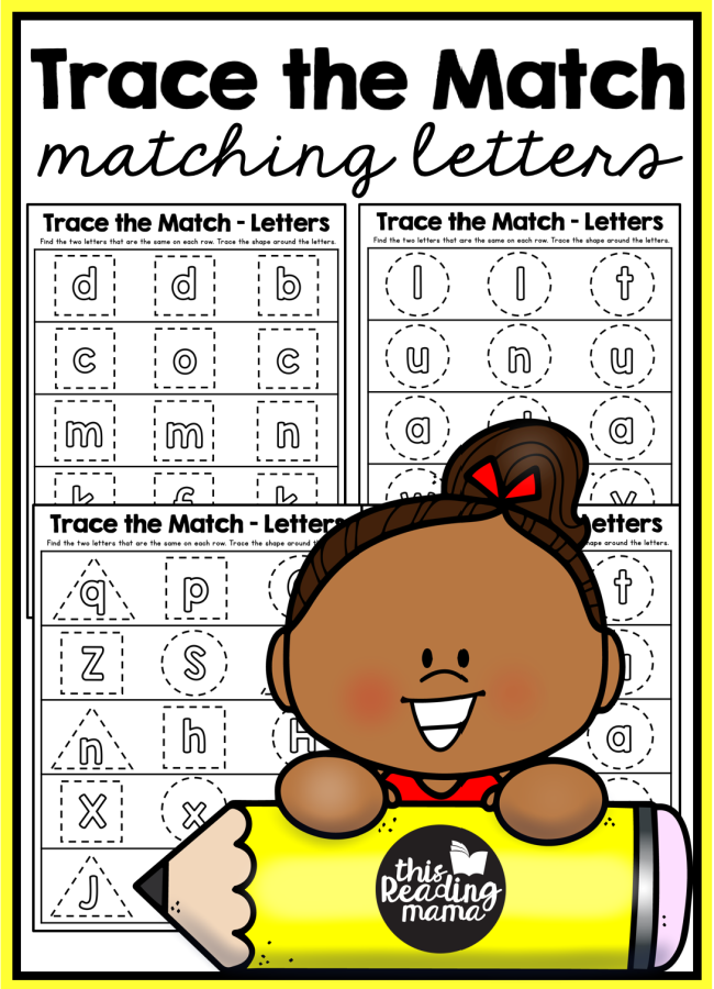 Matching Letters Tracing Pages - This Reading Mama
