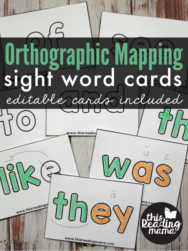 Orthographic Mapping Sight Word Cards - editable cards included - This Reading Mama