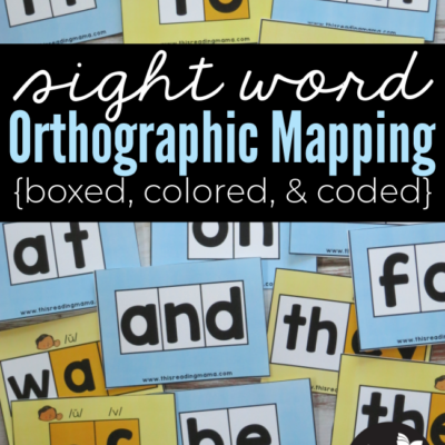 Sight Word Orthographic Mapping Color Cards