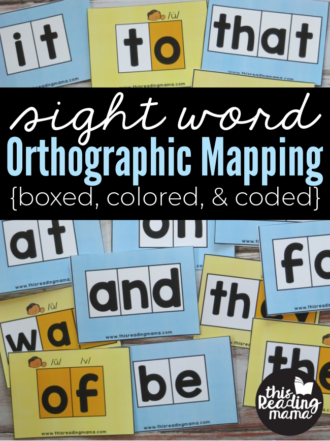 Sight Word Orthographic Mapping Cards - Boxed, Colored, & Coded - This Reading Mama