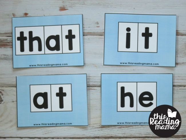 Sight Word Orthographic Mapping Cards - entire word is decodable