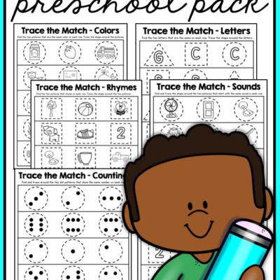 Trace the Match Preschool Pack